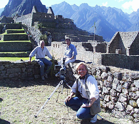 Ted Nicholas - John Easterling - Michael Millman at Machu Picchu, Peru - Follow Michael Millman on Twitter